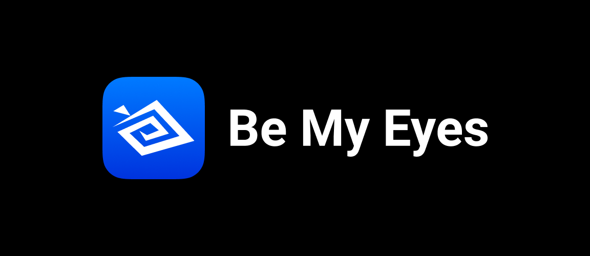 Be My Eyes logo on black background